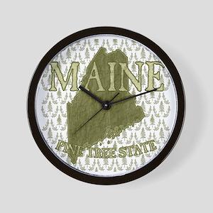 Pine Tree State Rev 2 Wall Clock