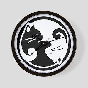 yin-yang-cat Wall Clock