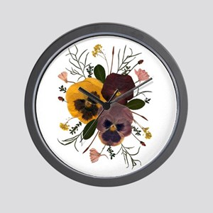 3-pansy_ncard Wall Clock