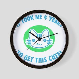 BdayCuteBG4 Wall Clock