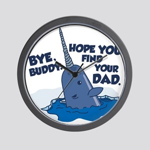 Elf Narwhal Wall Clock
