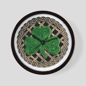 Shamrock And Celtic Knots Wall Clock