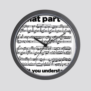 Partiture Wall Clock