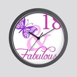 Fabulous 18th Birthday For Girls Wall Clock