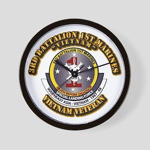 SSI - 3rd Battalion - 1st Marines USMC VN Wall Clo