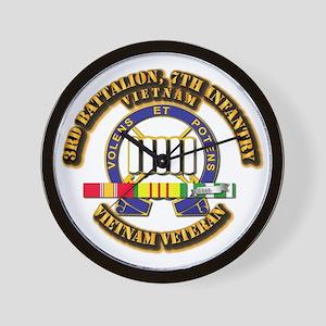 3rd Battalion, 7th Infantry Wall Clock