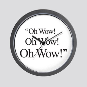 """""""Oh Wow"""" Wall Clock"""