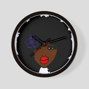 BrownSkin Curly Afro Natural Hair???? P Wall Clock