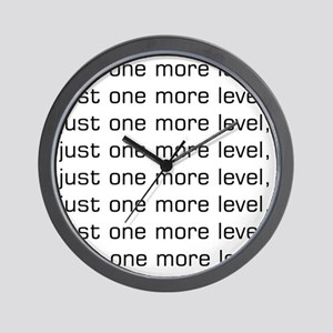 One More Level Tee Wall Clock
