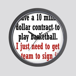 basketball-contract2 Wall Clock