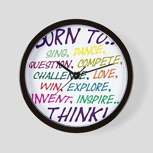 Born To... Wall Clock