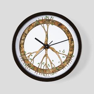 Peace Tree Wall Clock