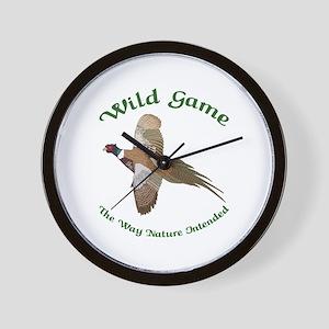 Wild Game Wall Clock