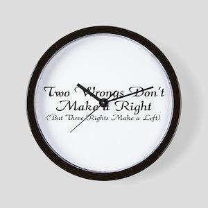 CS: 3 Rights Wall Clock