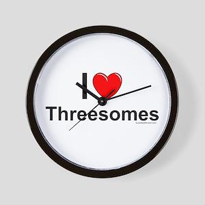 Threesomes Wall Clock