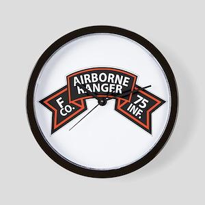 F Co 75th Infantry (Ranger) Scroll Wall Clock