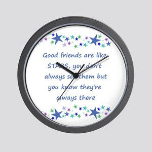 Good Friends are like Stars Inspirational Quote Wa