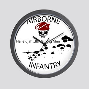 airborne infantry Wall Clock