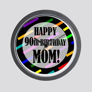 90th Birthday For Mom Wall Clock