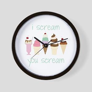 I Scream You Scream Wall Clock