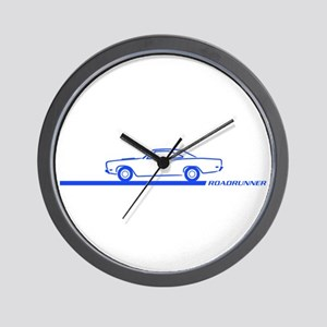 1968-69 Roadrunner Blue Car Wall Clock