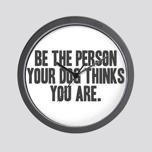 Be the Person Wall Clock