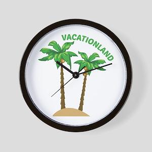 Vacationland Wall Clock