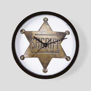 Sheriff -  Wall Clock