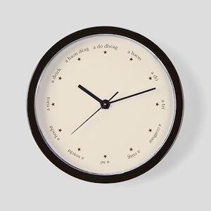 Gaelic Irish Numbers and Stars Wall Clock