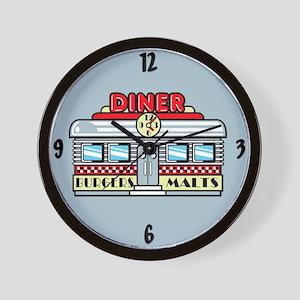1950's Retro Diner Wall Clock