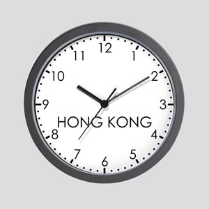 HONG KONG Modern Newsroom Wall Clock