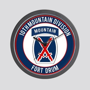 10th Mountain Ft Drum Wall Clock