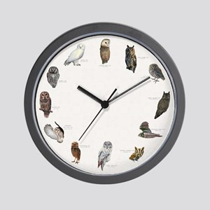 Owls of North America Wall Clock