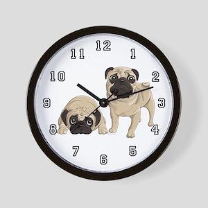 Pugs Wall Clock