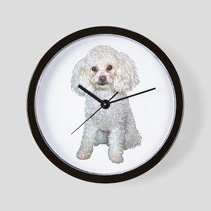 Poodle - Min (W) Wall Clock