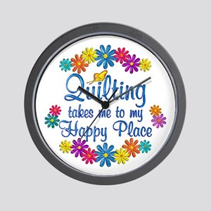 Quilting Happy Place Wall Clock
