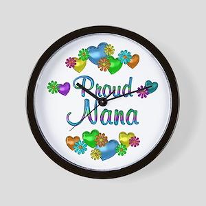 Proud Nana Wall Clock