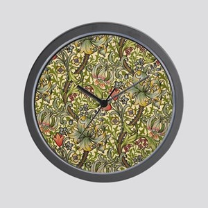 William Morris Golden Lily pattern Wall Clock