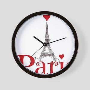 I love Paris Wall Clock