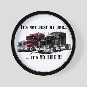 Trucker - it's my life Wall Clock