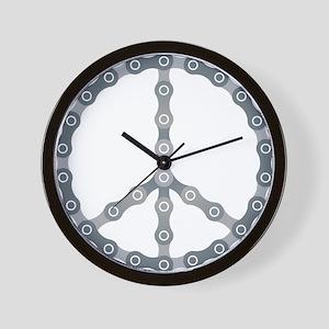 peace chain drk Wall Clock