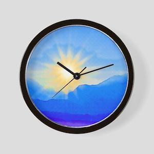 Watercolor Sunrise Wall Clock