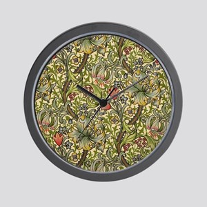 Morris Golden Lily Wall Clock