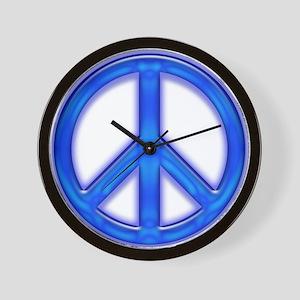 peaceGlowBlue Wall Clock