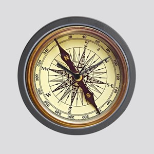 Vintage Compass Wall Clock