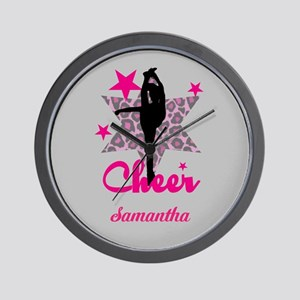 Pink Cheerleader Wall Clock