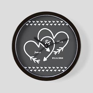 Mr. and Mrs. Wedding Customizable Gray Wall Clock