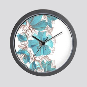 Pretty Floral Wall Clock