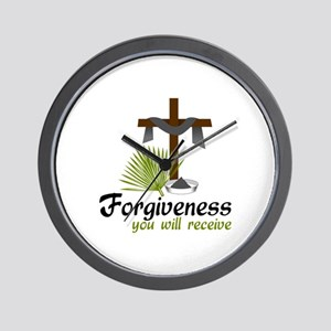 Forgiveness You Will Receive Wall Clock