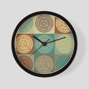 Air Traffic Control Pop Art Wall Clock